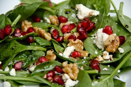 Image result for Spinach Feta and Pomegranate Salad